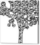 Joshua Tree Zebra Stripes Canvas Print