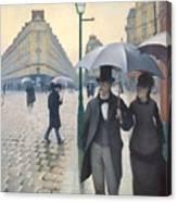 Jour De Pluie A Paris Canvas Print