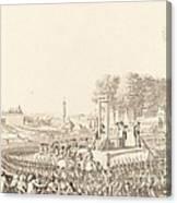 Journee Du 16 Octobre 1793, La Morte De Marie-antoinette Canvas Print