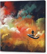 Journey To Outer Space Canvas Print