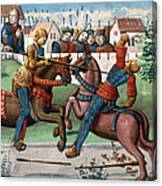 Jousting Knights, 1499 Canvas Print