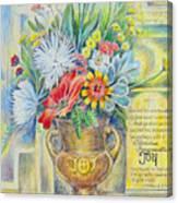 Joy Bouquet Canvas Print