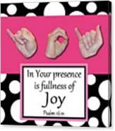 Joy - Bw Graphic Canvas Print