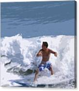 Joy Of Surfing - Two Canvas Print