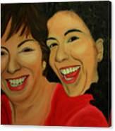Joyce And Gina Canvas Print
