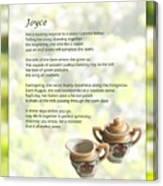 Joyce Poem Canvas Print