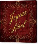 Joyeux Noel In Red And Gold Canvas Print