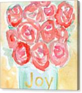 Joyful Roses- Art By Linda Woods Canvas Print