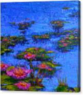 Joyful State - Modern Impressionistic Art - Palette Knife Landscape Painting Canvas Print