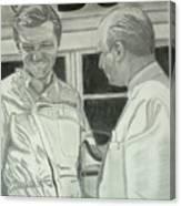Juan Manuel Fangio And Graf Berghe Von Trips Canvas Print
