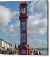 Jubilee Clock - Weymouth Canvas Print