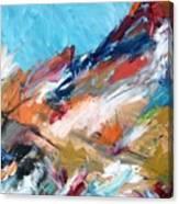 Judean Hill Abstract Canvas Print