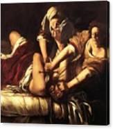 Judith Beheading Holofernes 1620 Canvas Print