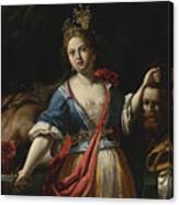 Judith With The Head Of Holofernes 2 Canvas Print