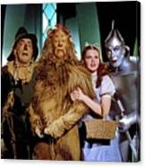 Judy Garland And Pals The Wizard Of Oz 1939-2016 Canvas Print