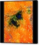 Jug In Black And Orange Canvas Print