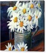 Jug Of Daisies Canvas Print