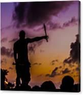 Juggler At Sunset Canvas Print