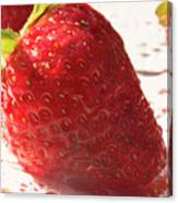 Juicy Strawberries Canvas Print