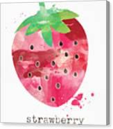 Juicy Strawberry Canvas Print