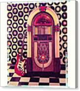 Juke Box Polaroid Transfer Canvas Print