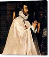 Julian Romero De Las Azanas And His Patron St Julian Canvas Print
