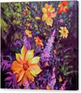 Julia's Dahlias Canvas Print