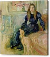 Julie Manet And Her Greyhound Laerte Canvas Print