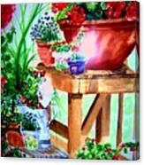 Julie's Deck Canvas Print