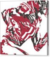 Julio Jones Atlanta Falcons Pixel Art 11 Canvas Print