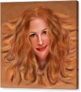 Julorobani - Julia Roberts Portrait Canvas Print