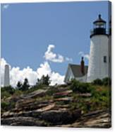 July 2005 At Pemaquid Point Light Canvas Print