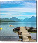 July 4th on Lake McDonald Canvas Print