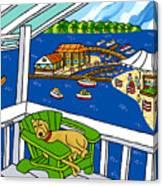 July 4th Snoozer - Cedar Key Canvas Print