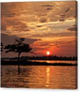 July Summer Sunset At Detroit Point Canvas Print