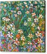 Jumbled Up Wildflowers Canvas Print