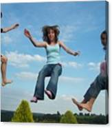 Jumping For Joy Canvas Print