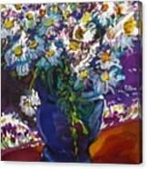 June Daisies Canvas Print