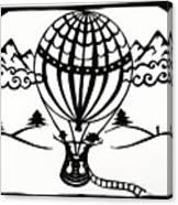 June In A Balloon Canvas Print