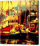 Juneau Boats Canvas Print