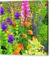 Juneau Has Flowers Canvas Print