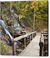 Juney Whank Falls And A Place To Rest Canvas Print