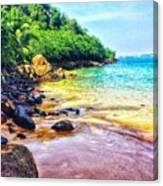 Jungle Beach Canvas Print