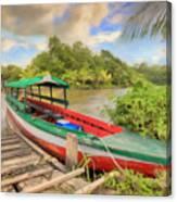 Jungle Boat Canvas Print