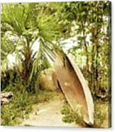 Jungle Canoe Canvas Print
