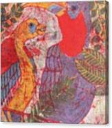 Jungle Chit Chat Batik Canvas Print