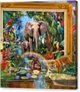 Jungle Coming Canvas Print