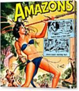 Jungle Movie Poster 1957 Canvas Print
