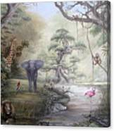 Jungle Treehouse Canvas Print