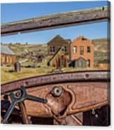 Junk Car Window View Canvas Print
